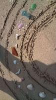 5.8:113:200:0:0:アート:right:1:1:ビーチグラスと、貝でアート by ひめか:1:
